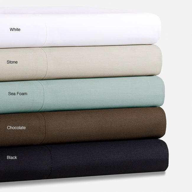 Feather Finish Cotton Sateen 400 Thread Count Full-size Sheet Set
