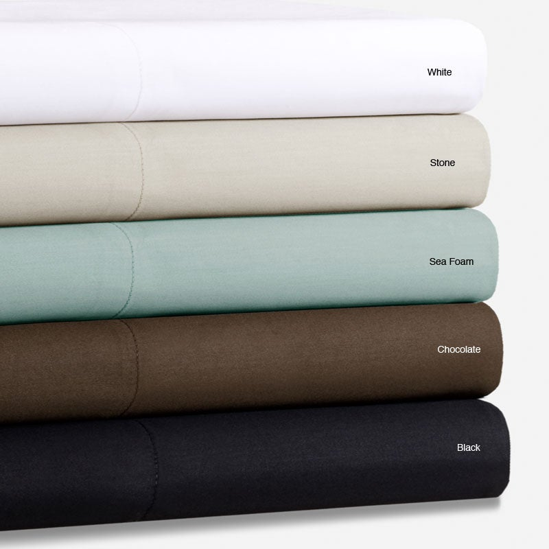 Feather Finish Cotton Sateen 400 Thread Count Queen-size Sheet Set