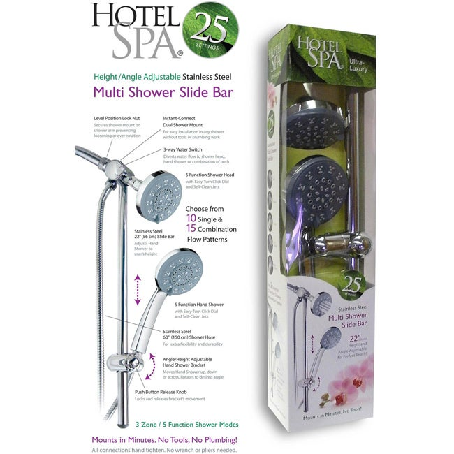 Hotel Spa Multi-shower Slide Bar - Free Shipping Today - Overstock ...