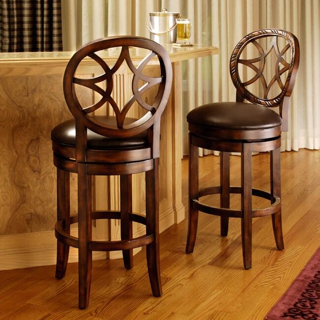 Overstock Bar: Starback Brown Leather Barstool