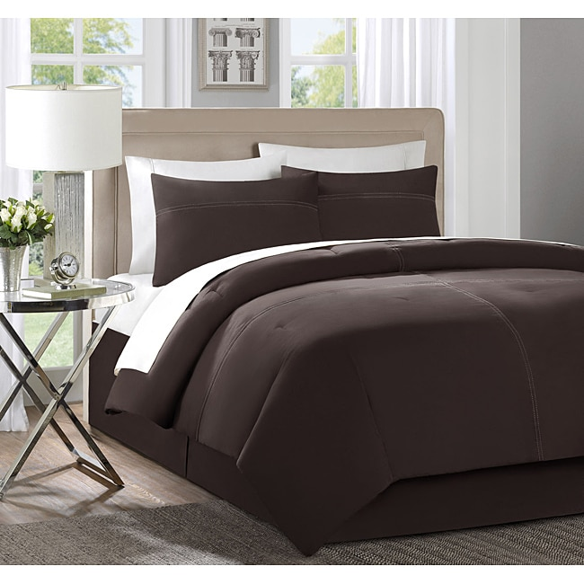 Quatro Brown Queen 4-piece Comforter Set