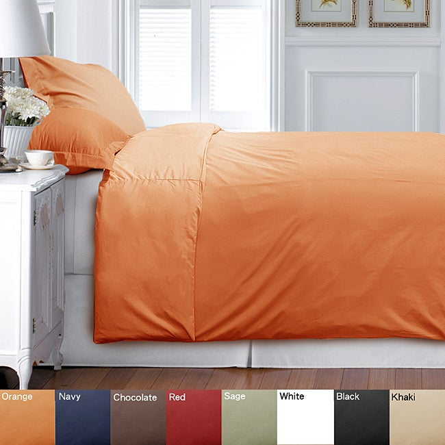 Solid Twin XL-size 2-Piece Duvet Cover Set