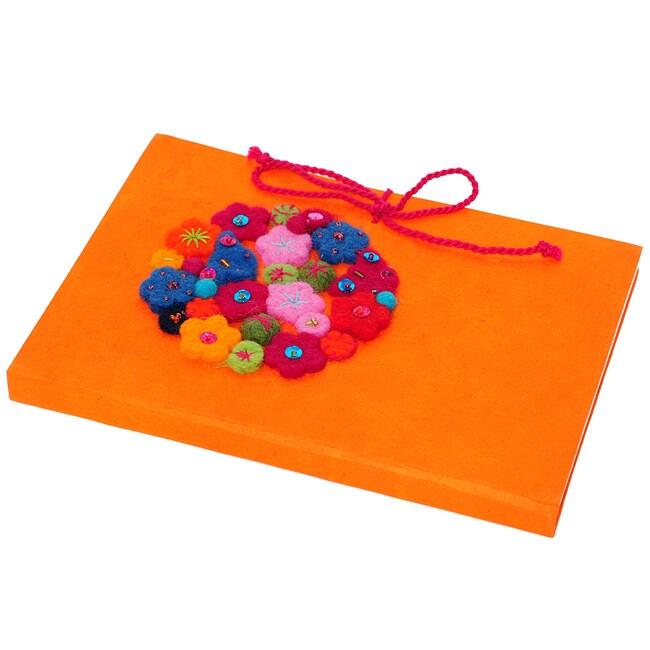 Handmade Paper Orange Hana Journal (Nepal)