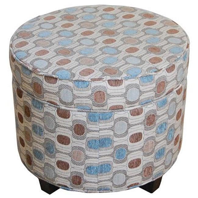 Designer Large Round Storage Ottoman