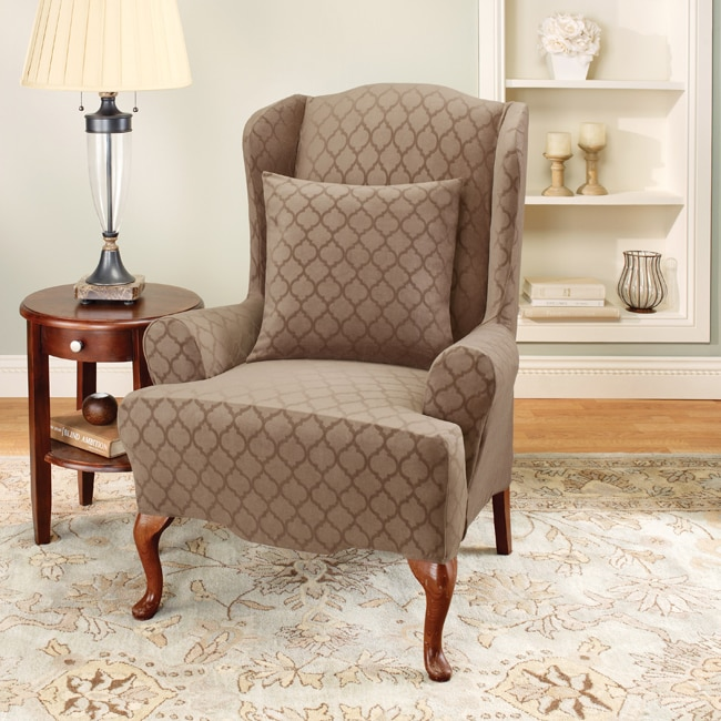 Sure Fit Stretch Marrakesh Wing Chair Slipcover Free