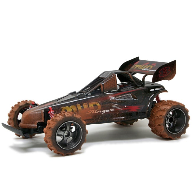 Shop New Bright Black 1:14 Electric Mud Slinger Buggy RC ...