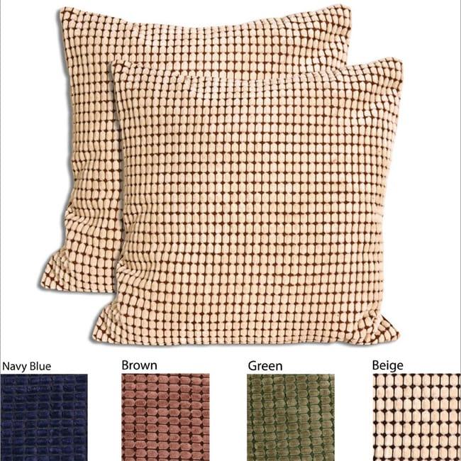 Velvet Corduroy 18 Inch Decorative Throw Pillows Set Of 2