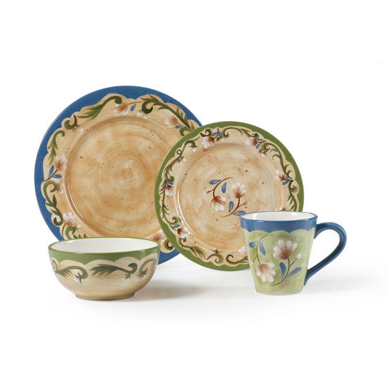 Pfaltzgraff Tuscany Floral 16-piece Dinnerware Set