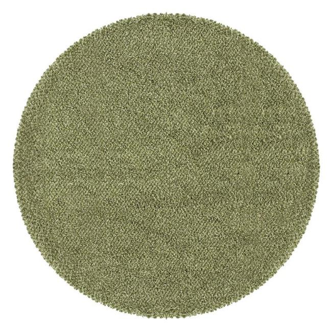 Manhattan Tweed Green/ Ivory Shag Rug (8' Round)