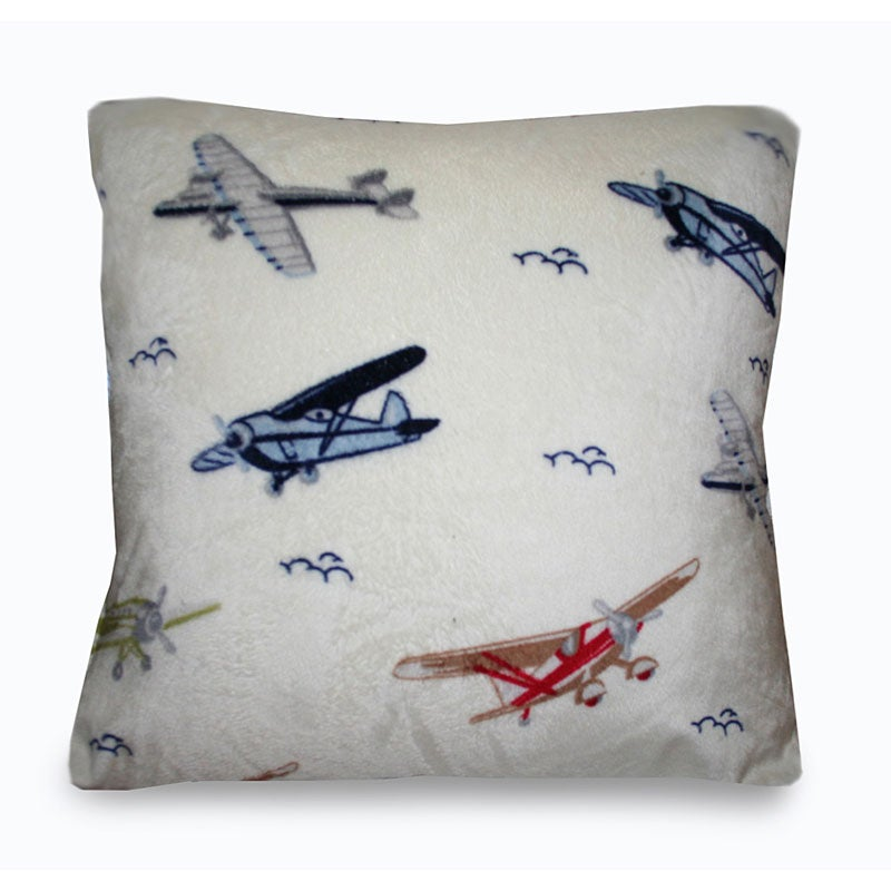 Shop Vintage Airplanes Microplush Decorative Pillow Free Shipping Best Airplane Decorative Pillow