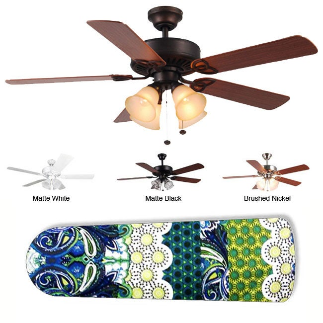 New Image Concepts 4-Lamp 'Oceania' Ceiling Fan