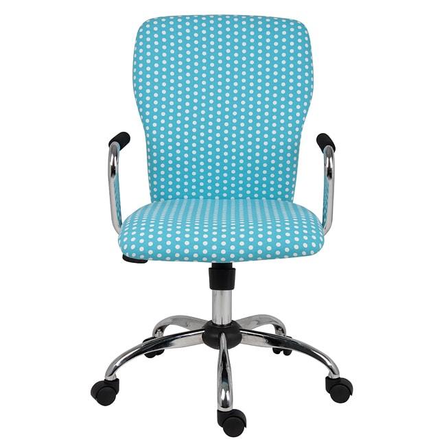 Nice Grace Blue Polka Dot Chair With Arms