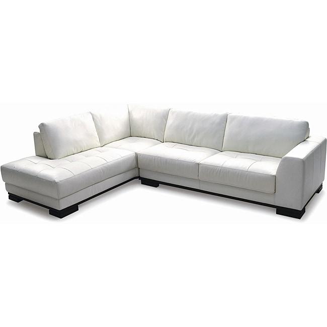 Harmony Sectional Left Top Grain Leather Sofa