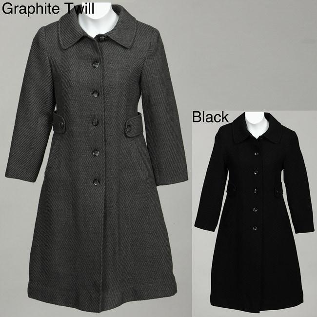 Rothschild Girl's Wool-blend Dress Coat and Hat Set