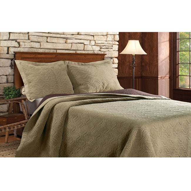 Greenland Home Fashions Kingston Sage Full/Queen-size Quilt Set