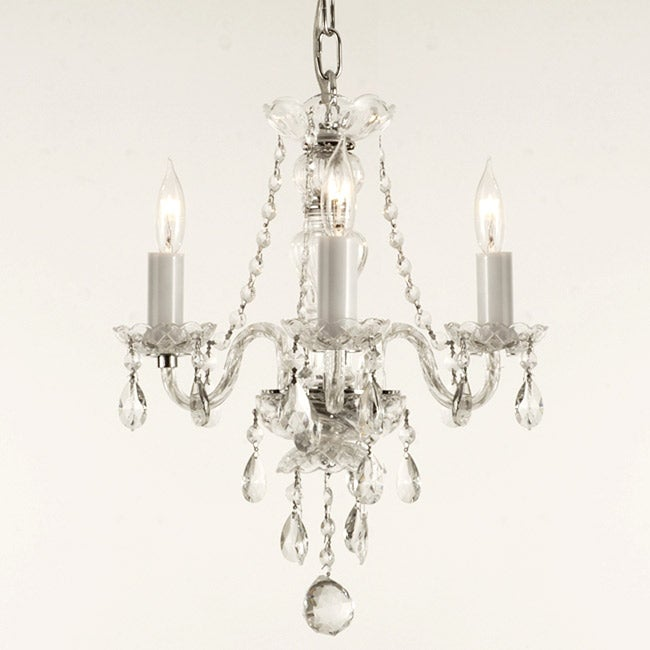 Gallery Venetian Style All-crystal 3-light Chandelier - Thumbnail 0