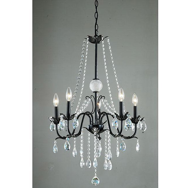 Iron Classic 5-light Crystal Chandelier