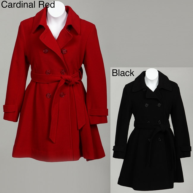 Rothschild Big Girl's Wool-blend Back Bow Belted Coat
