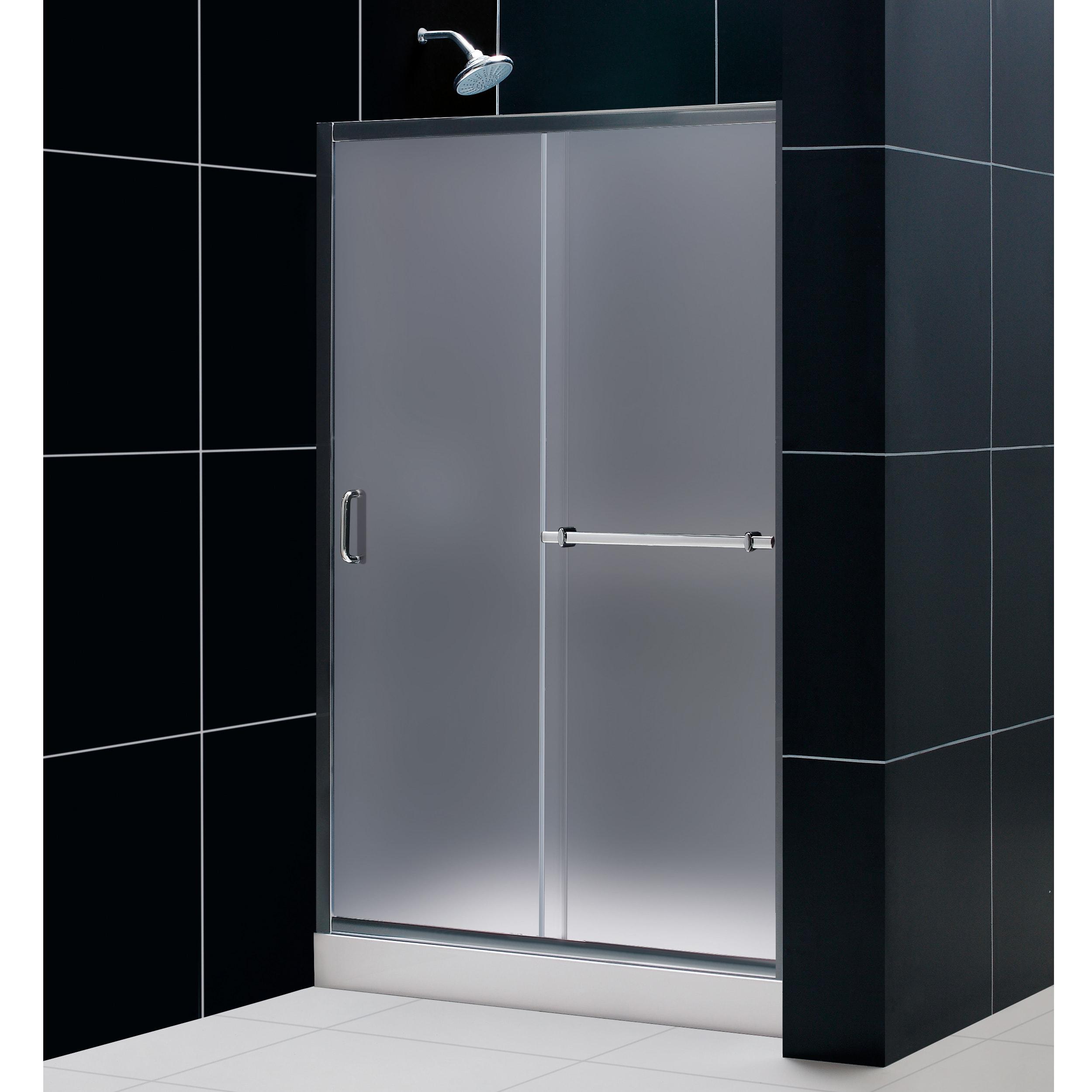 DreamLine Infinity Plus 44-48x72-inch Frosted Glass Shower Door