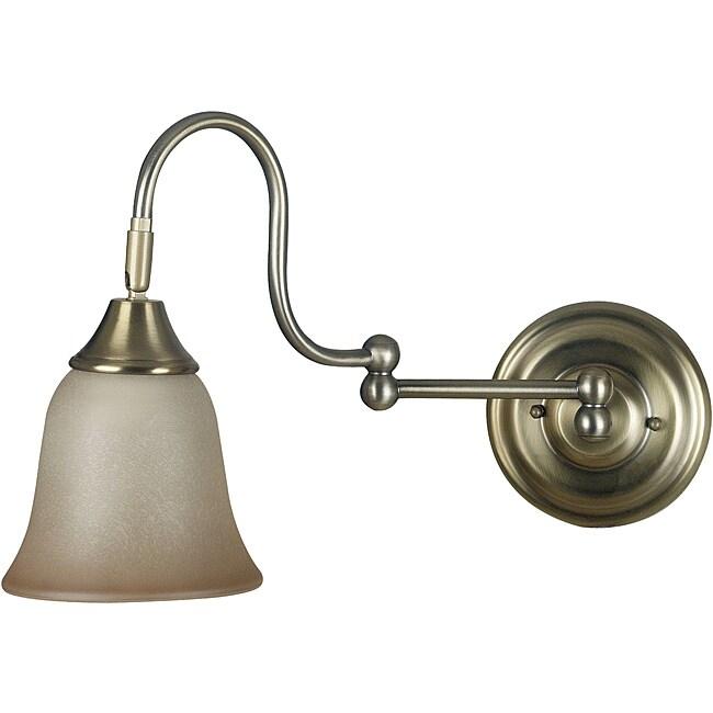 Harlington 1-light Vintage Brass Wall Sconce