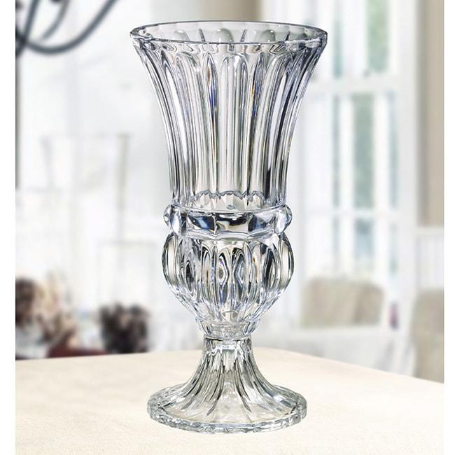 Crystal Clear Athena Pedestal Hurricane Vase