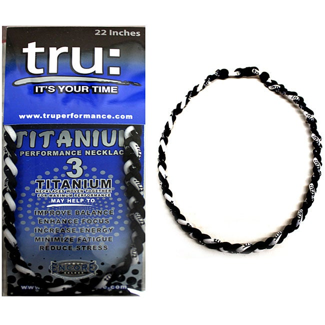 TRU Performance Titanium Black/ White Therapy Necklace