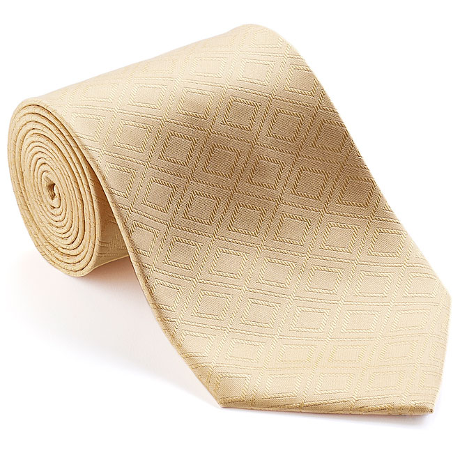 Platinum Ties Men's 'Gold Rush' Geometric-print Tie