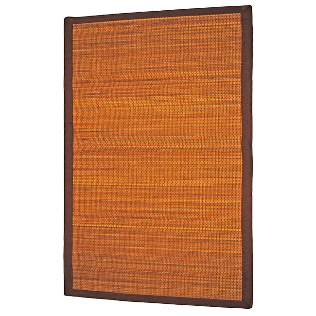Asian Hand-woven Natural Bamboo Rug (2' x 4')