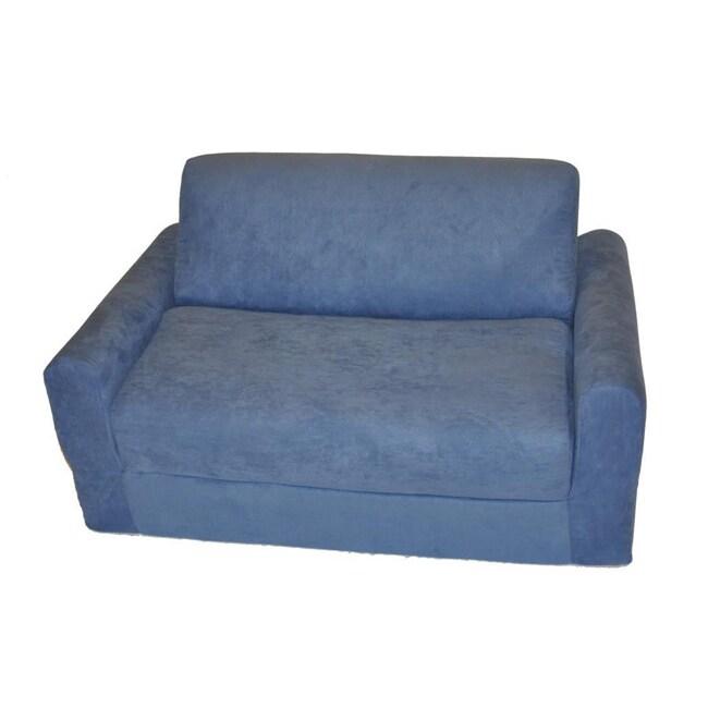 Fun Furnishings Blue Micro Suede Sofa