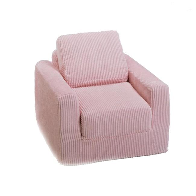 Fun Furnishings Pink Chenille Chair