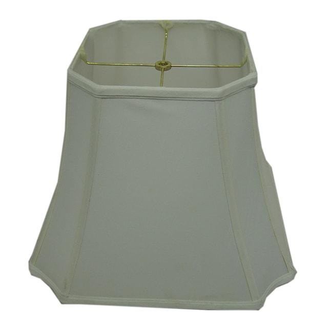 Square Cut-corner White Silk Lamp Shade