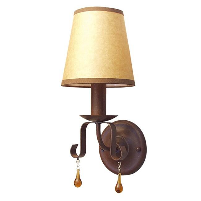 Woodbridge Lighting Breckenridge 1-light Rust Wall Sconce