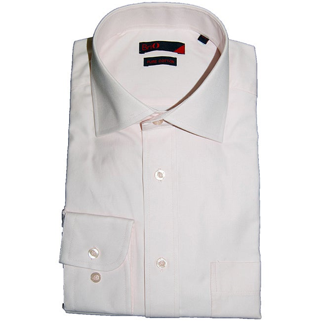 Brio Men's Pink Fashion Dress Shirt