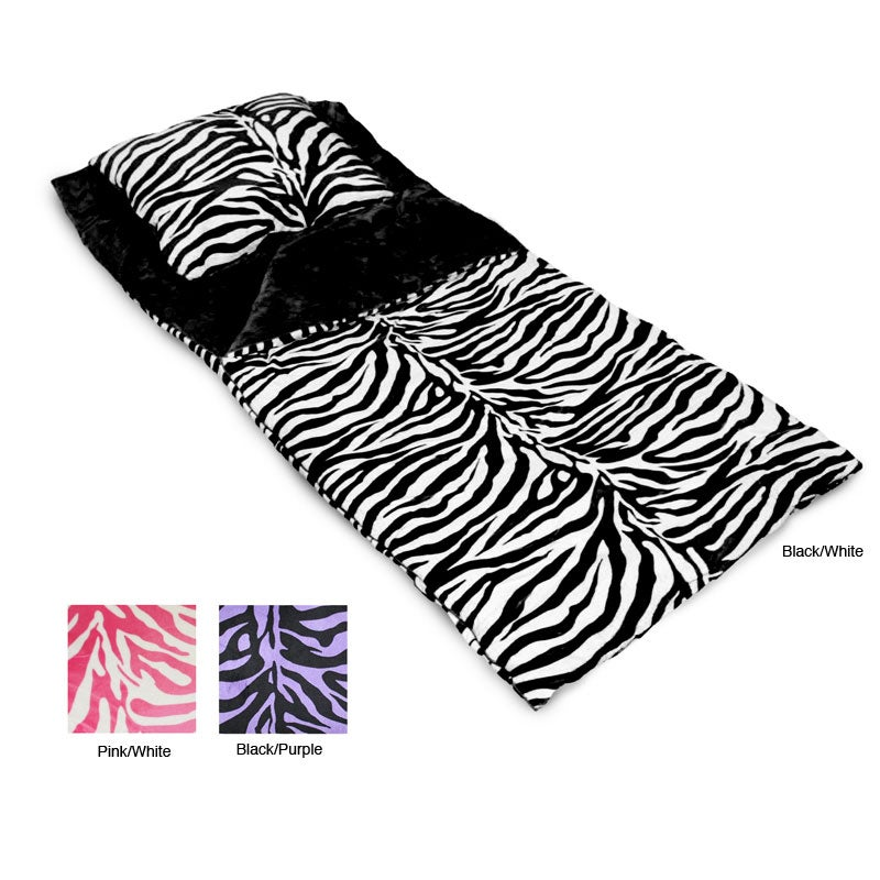 Zebra Microplush Sleeping Bag