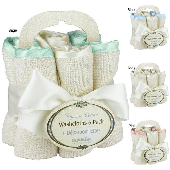 Bumkins Organic Washcloths (Pack of 6)