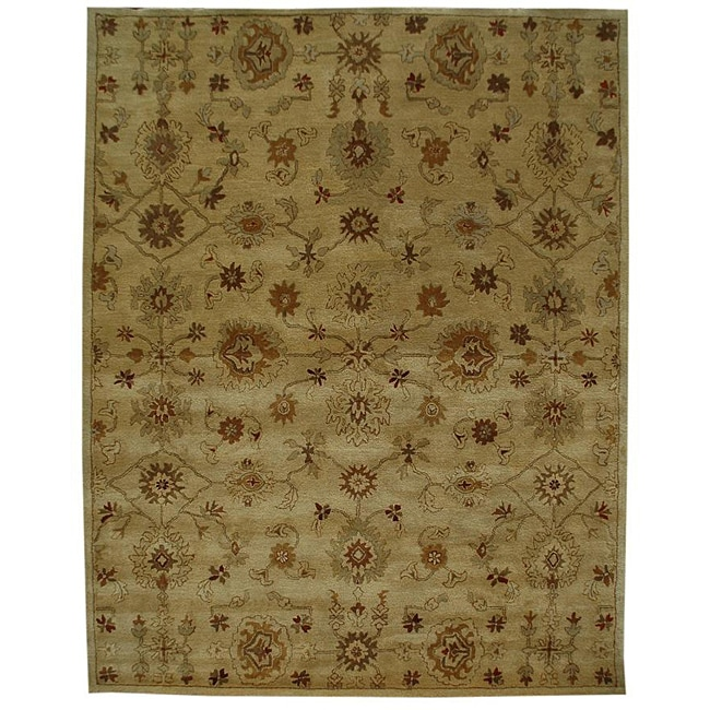 Hand-tufted Manted Sand Wool Rug (8' x 11')