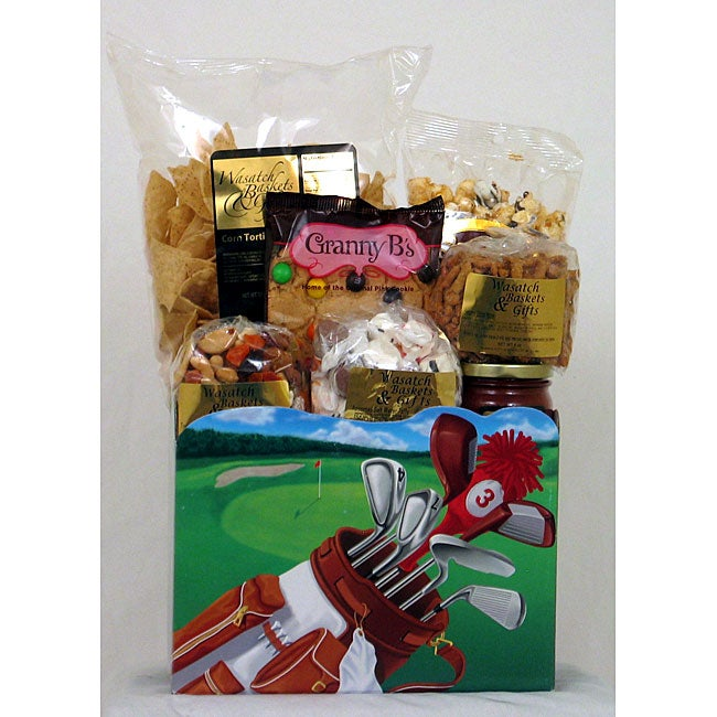 Gift Techs Mountain Golfer Large Gourmet Snack Food Gift Box