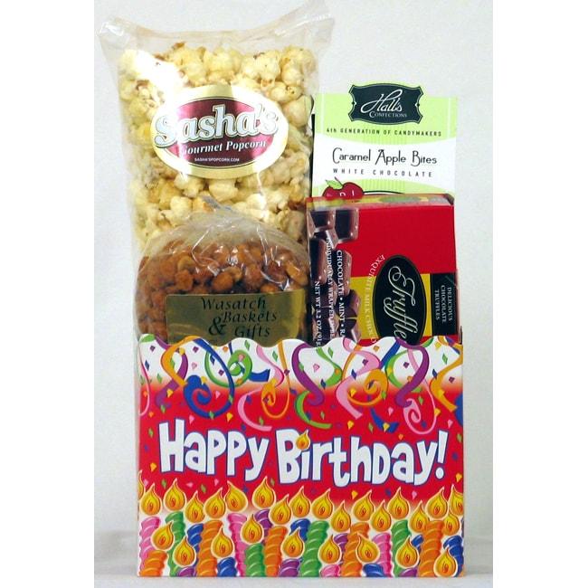 Gift Techs Mountain Birthday, Regular Gourmet Snack Food Gift Box