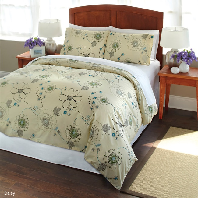 Daisy 2 Piece Twin Size Duvet Cover Set Free Shipping On