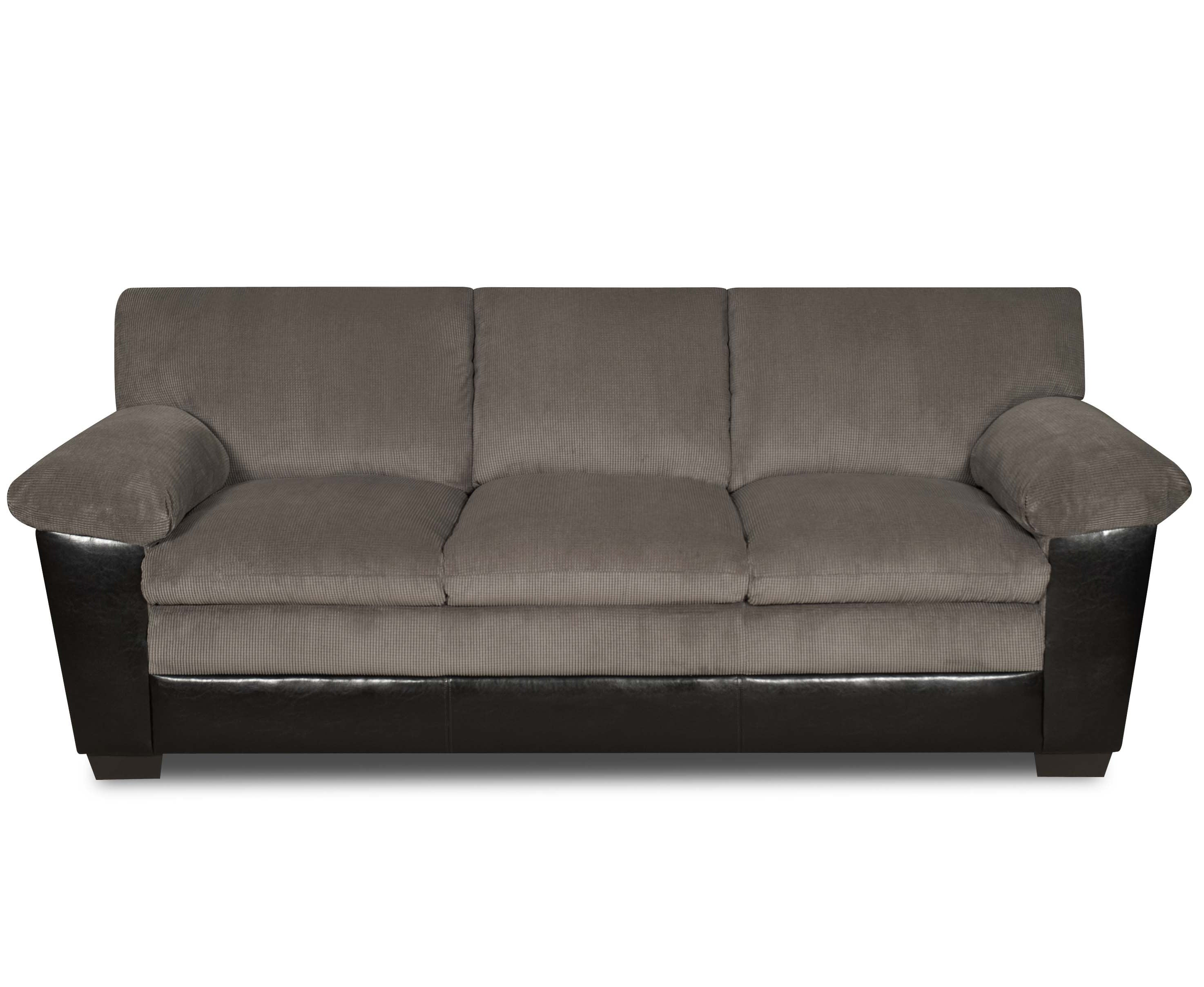 Simmons Lancaster Black and Charcoal Sofa Free Shipping Today
