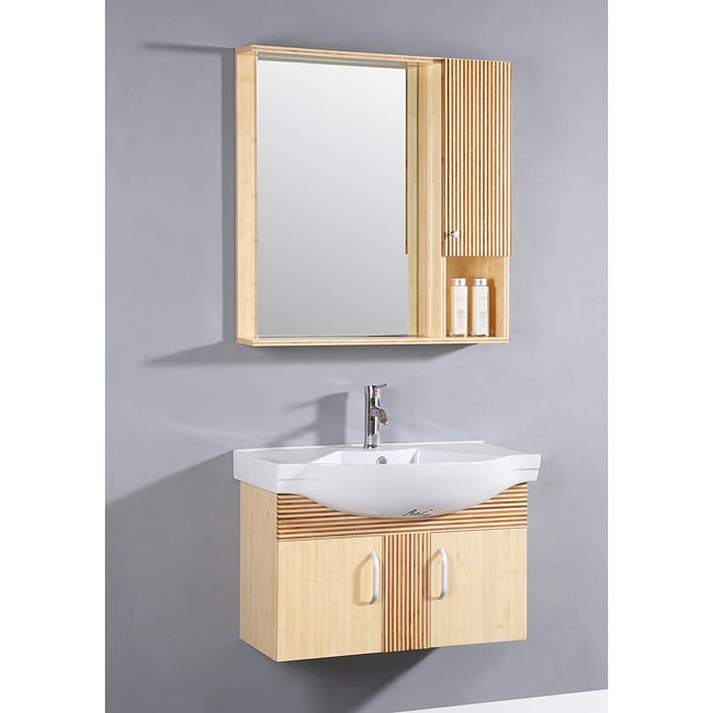 light maple 3 piece 33 inch single sink bathroom vanity set free shipping today overstock