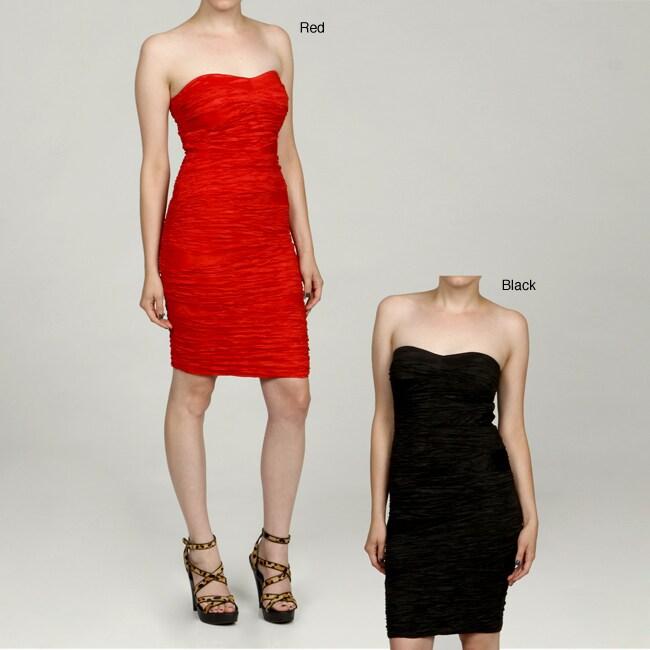 1fd45b50df3ae Romeo & Juliet Women's Crinkle Taffeta Tube Dress
