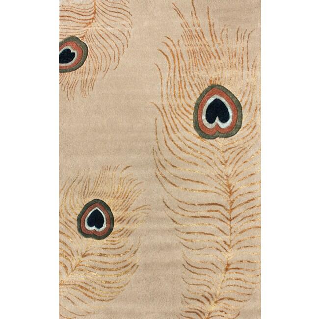 nuLOOM Handmade Handspun Peacock Wool Rug (7'6 x 9'6)