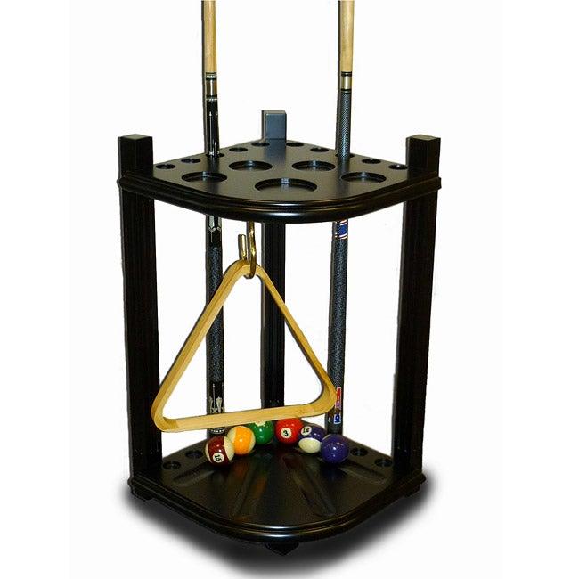 Insten Traditional Corner Pool Cue Stick Rack Free