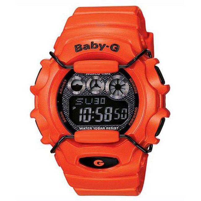 Casio Women's 'Baby-G' Orange Strap Orange Case Watch