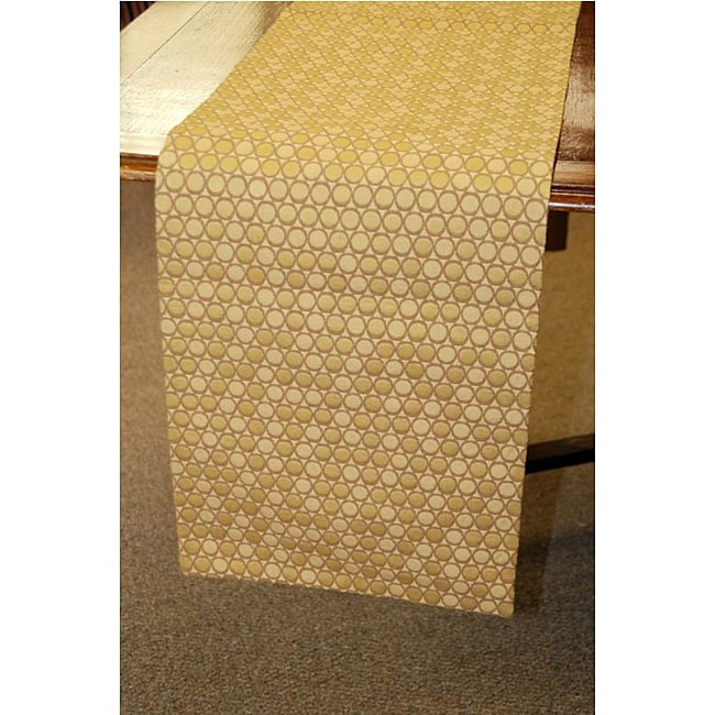 Gold Italian 70-inch Woven Table Runner