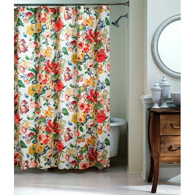 Westport Floral Shower Curtain - Thumbnail 0