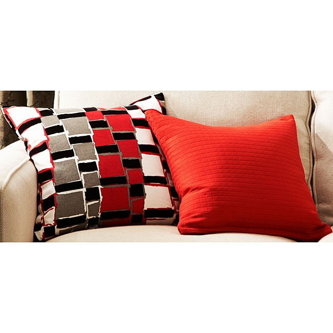 Urban Exchange Red Decorative Pillows (Set of 2)