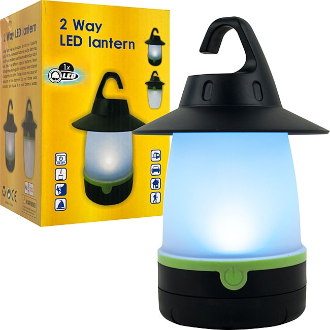 Super Bright Happy Camper Two-way LED Lantern with Adjustable Hook - Thumbnail 0
