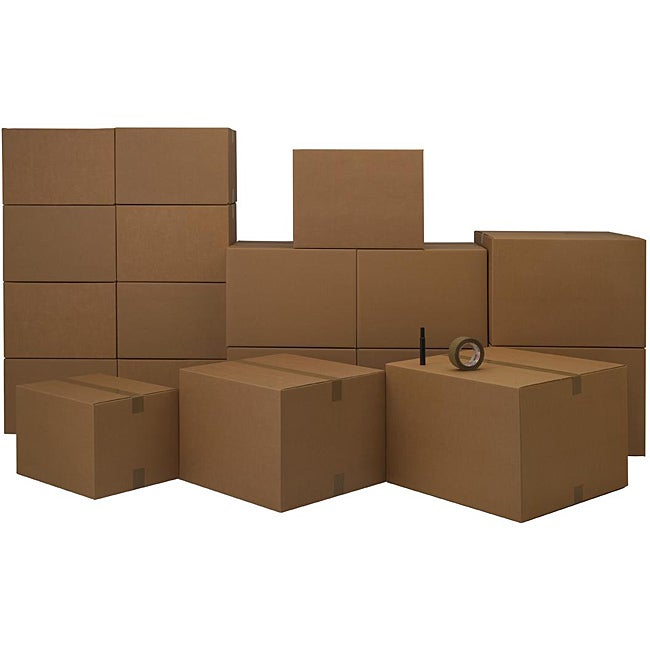 Cardboard Three/Four Room Moving Kit (72 Boxes and Supplies)